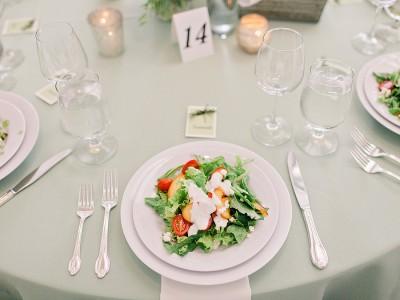 Wedding plated salad