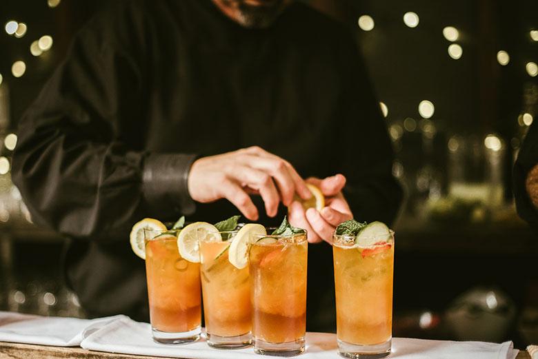 Open Bar with Cocktails Wedding Atlanta