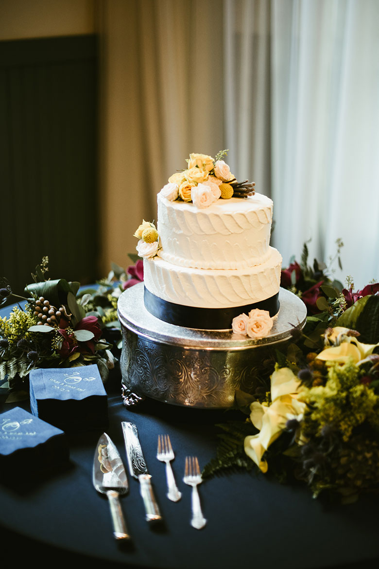 Anna and Jon's Wedding Cake