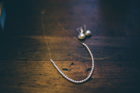 Wedding Pearl Necklace and earrings
