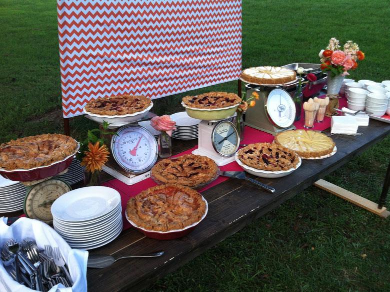 Fall Wedding Pies
