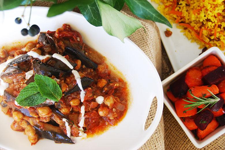 Eggplant Savory Trio Entree
